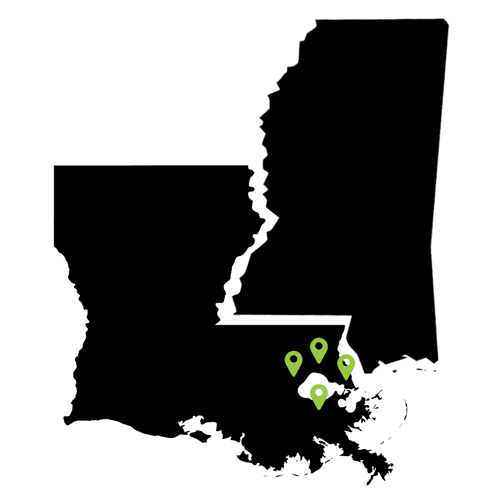 Louisiana, Mississippi Pickup Locations
